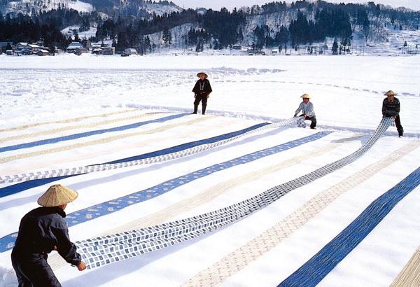 雪さらしの風景
